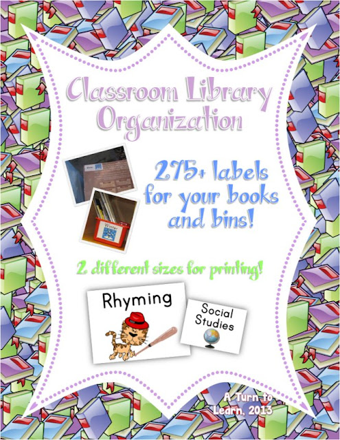 organize your classroom library in a way that all of your students can easily figure it out! this set has labels for your books, as well as two different size labels for bins... choose which printing option works best for you. it currently has more than 350 different labels! $
