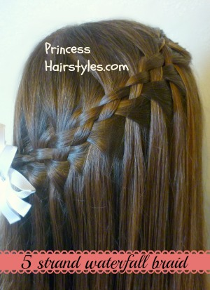5 strand waterfall braid video tutorial