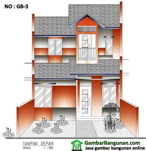 Gambar Desain Rumah 2 Lantai Tipe 21