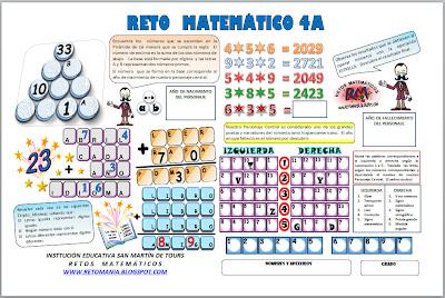 Retos Matematicos, problemas matemáticos, desafios matematicos, Dia del Idioma, 23 de abril