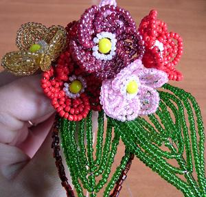плетение из бисера деревья Глициния