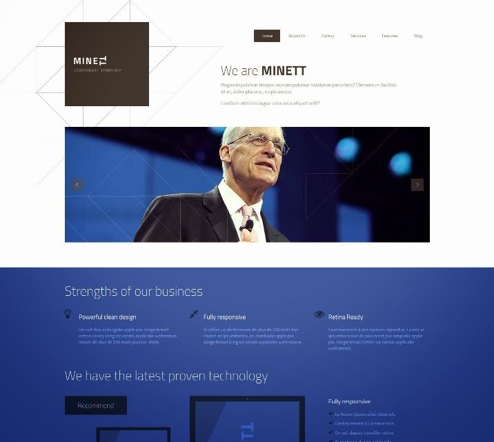 MINETT - Responsive Drupal 7 Theme