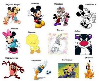 Caricaturas de Disney para etiquetar en Facebook