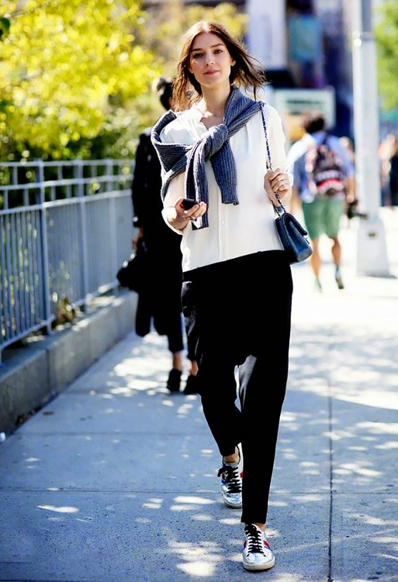 How to wear black and white-Look of the day
