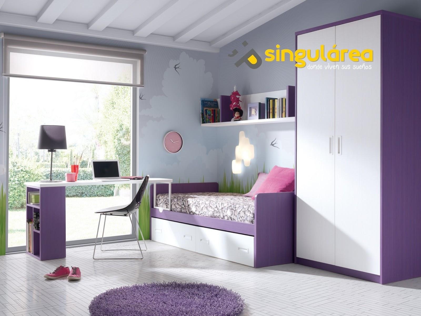 Dormitorio infantil sin armario 511 for Dormitorios juveniles baratos sin armario