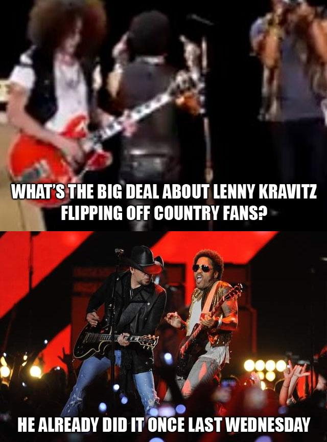 Farce the music lenny kravitz meme