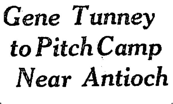 Lake County Illinois History Boxer Gene Tunney Trained Near Lake Villa