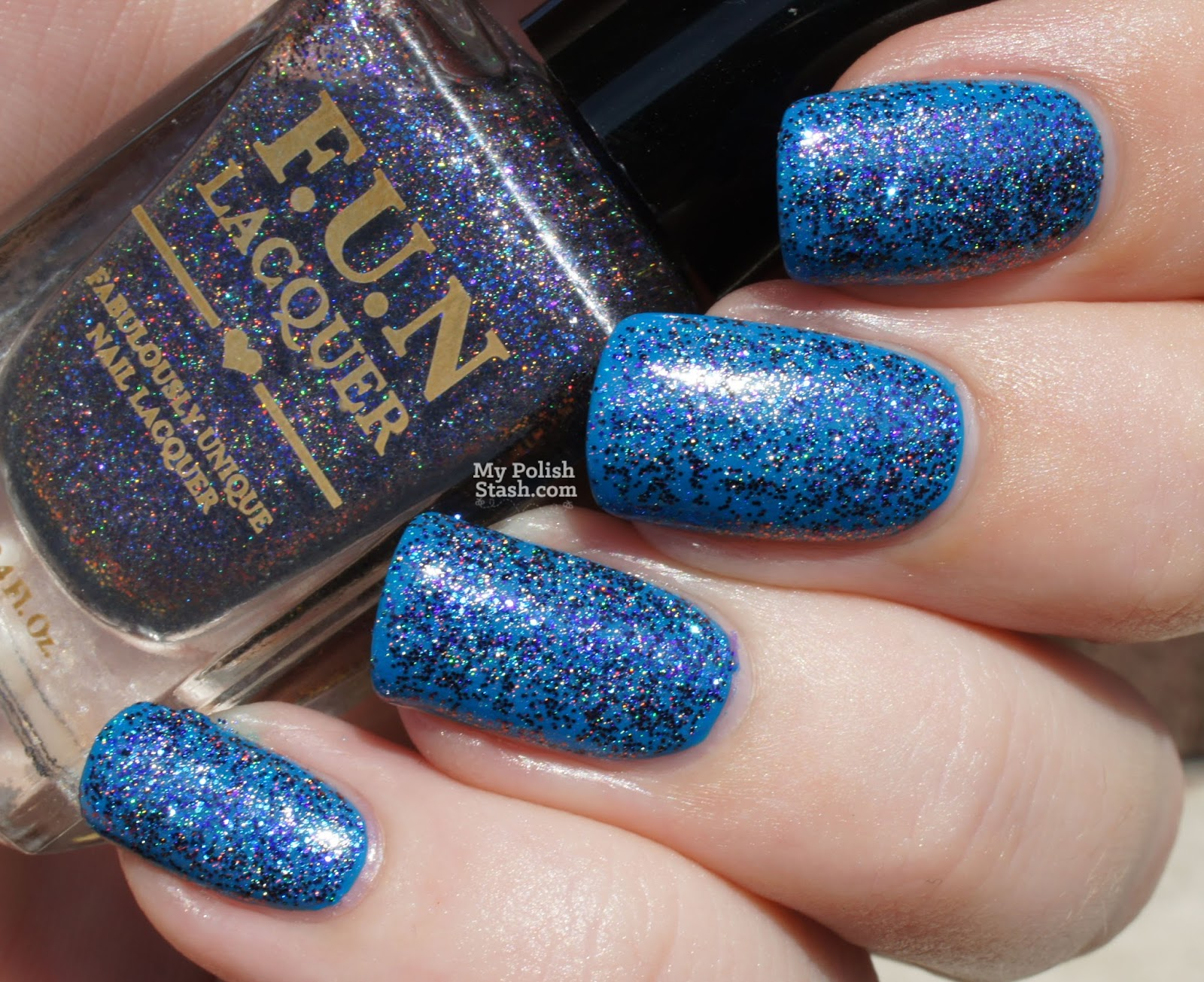 multichrome holographic glitter nail polish