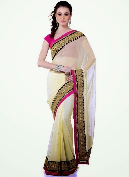 latest fashion styles party wear sarees