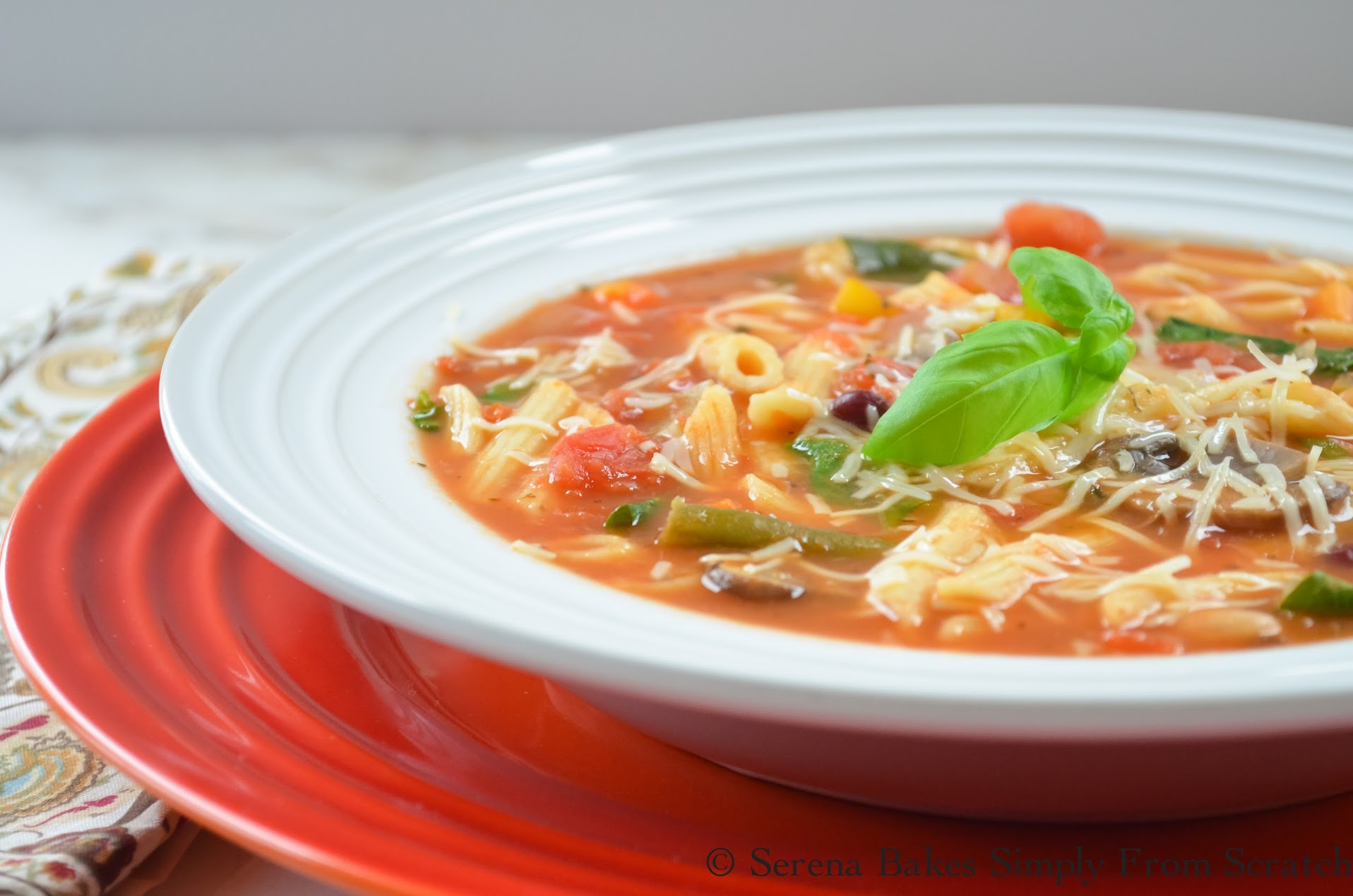 An easy to make step by step Minestrone Soup Recipe.