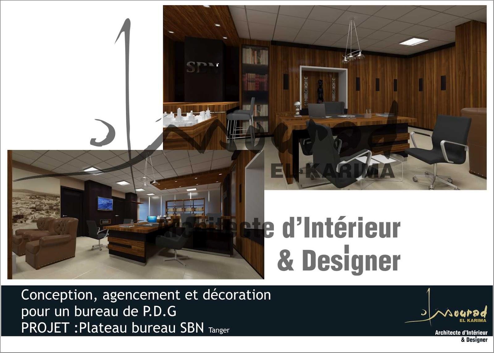 am nagement du nouveau bureau p d g de s b n tanger. Black Bedroom Furniture Sets. Home Design Ideas