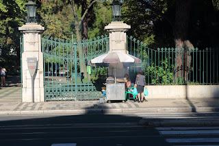 Fotografia do carrinho do assador de castanhas em Lisboa