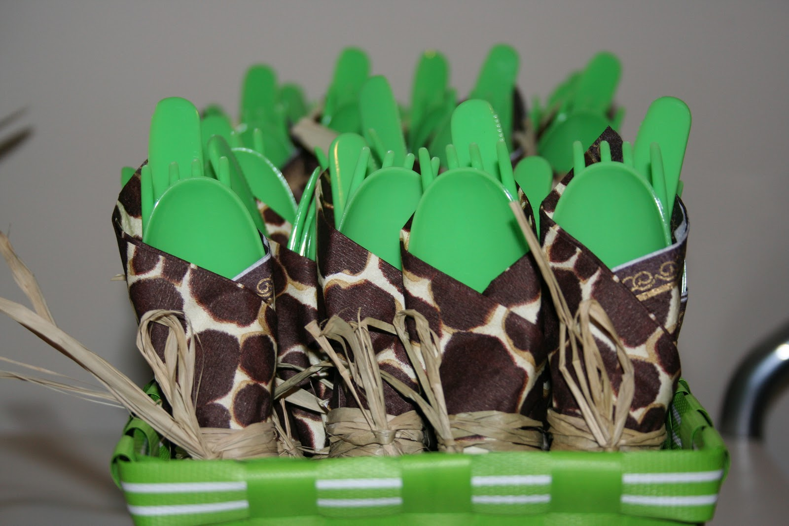 Cordier Events_jungle baby shower cutlery
