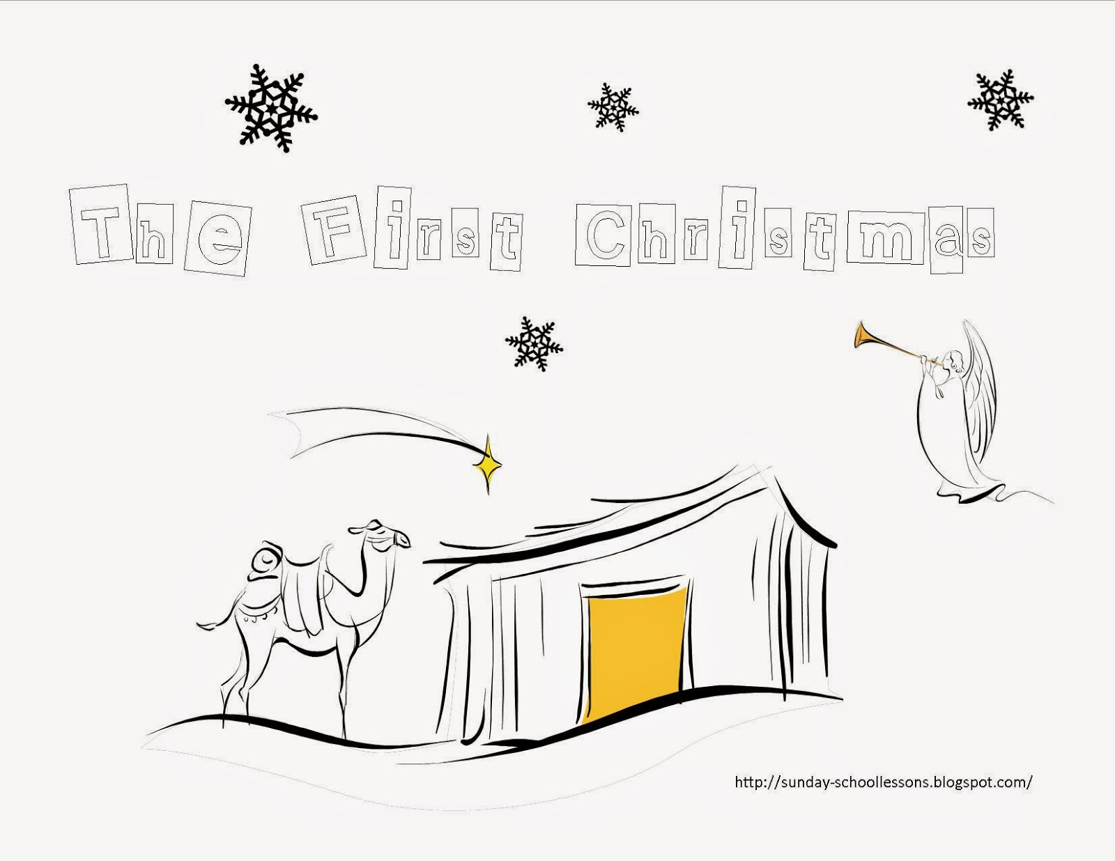 the christmas story coloring pages