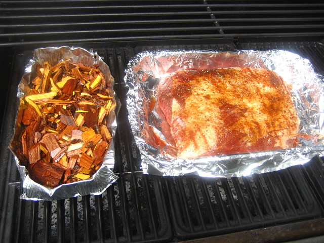 Best Wood Chips Smoking Brisket : Turned my wood chips at this time the smell on patio was so nice