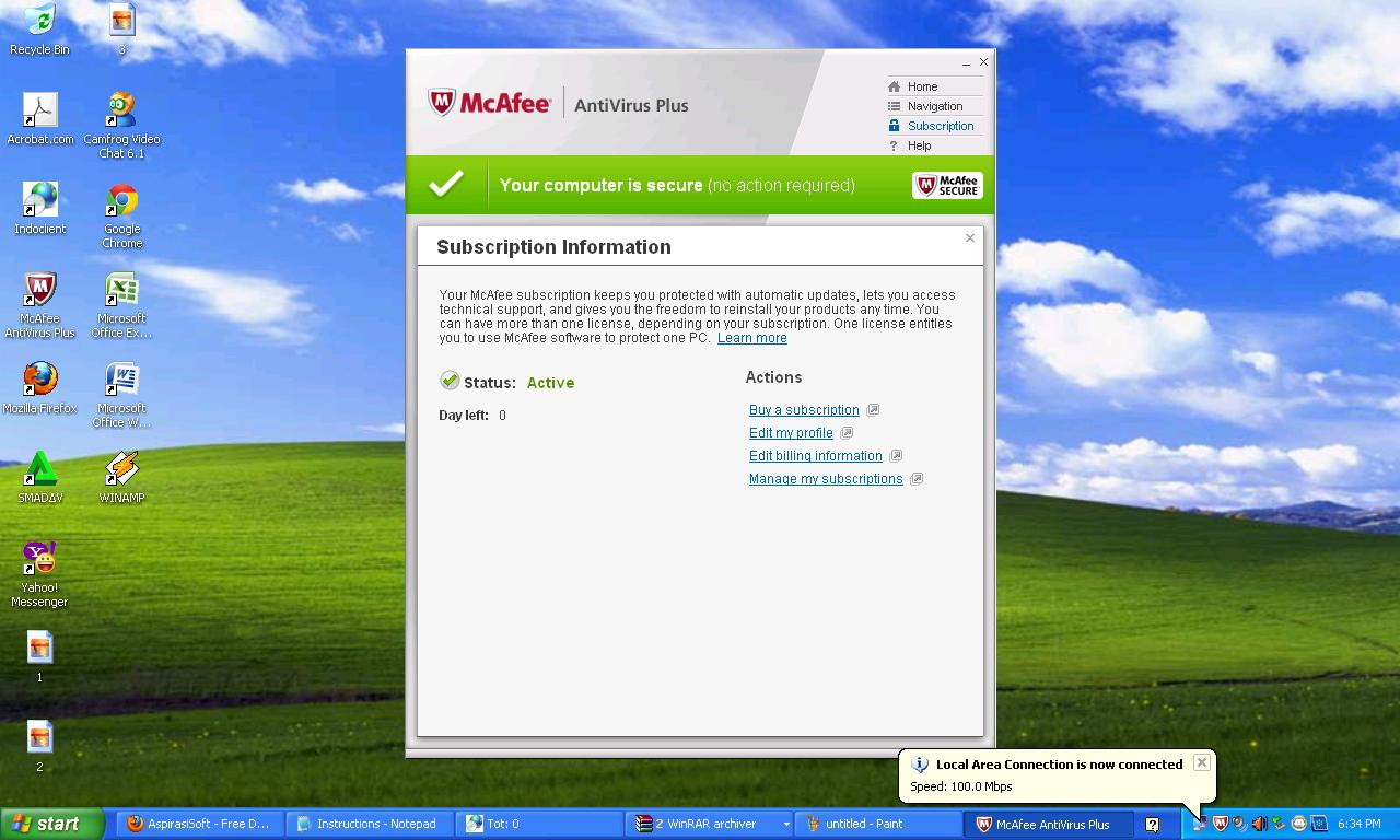 free mcafee antivirus for pc