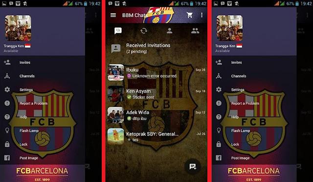 BBM Mod New Version 2.10.0.35 Themes Barcelona Apk Clone