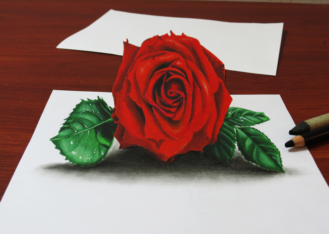 Art, Painting, Drawing, Tips and Tutorials: How to Draw a 3D Red ...