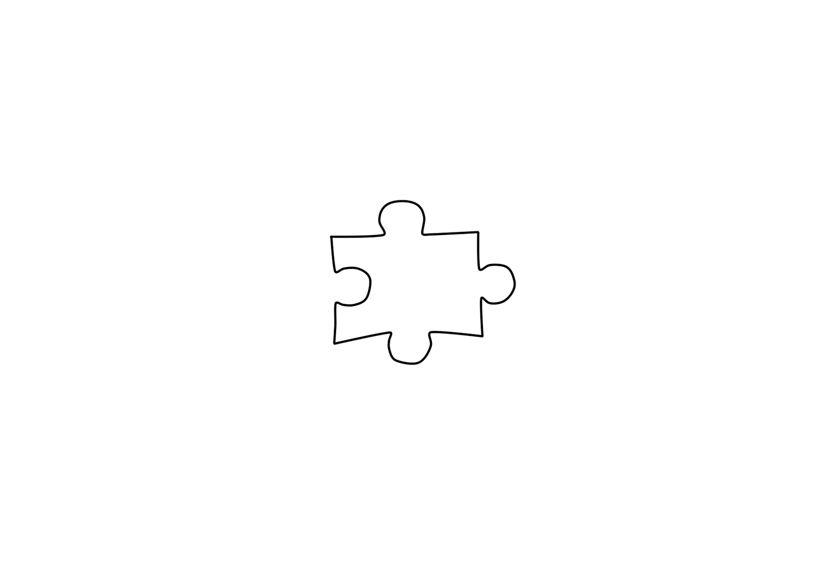 Plush By Tammy: Jigsaw Piece Template