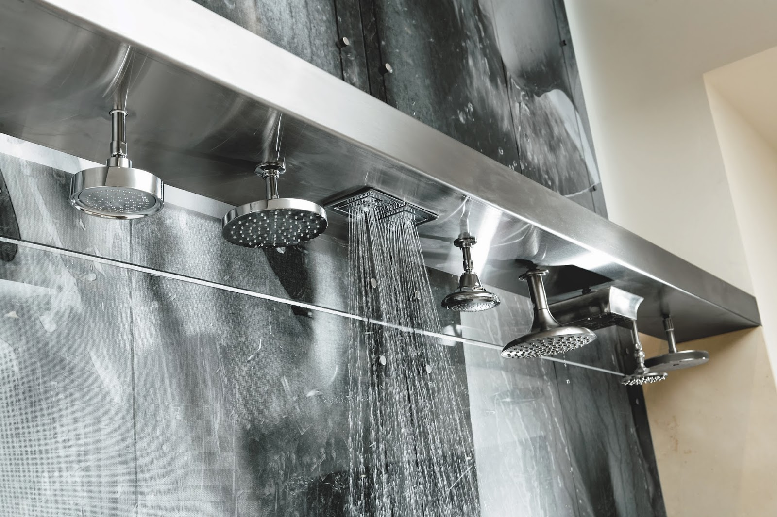 another popular option is having more than one showerhead you can have a different lever for each allowing you to choose which one turns on when and at - Showerheads