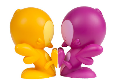 Kidrobot - Orange & Purple Colorway Lovebirds Vinyl Figures by Kronk