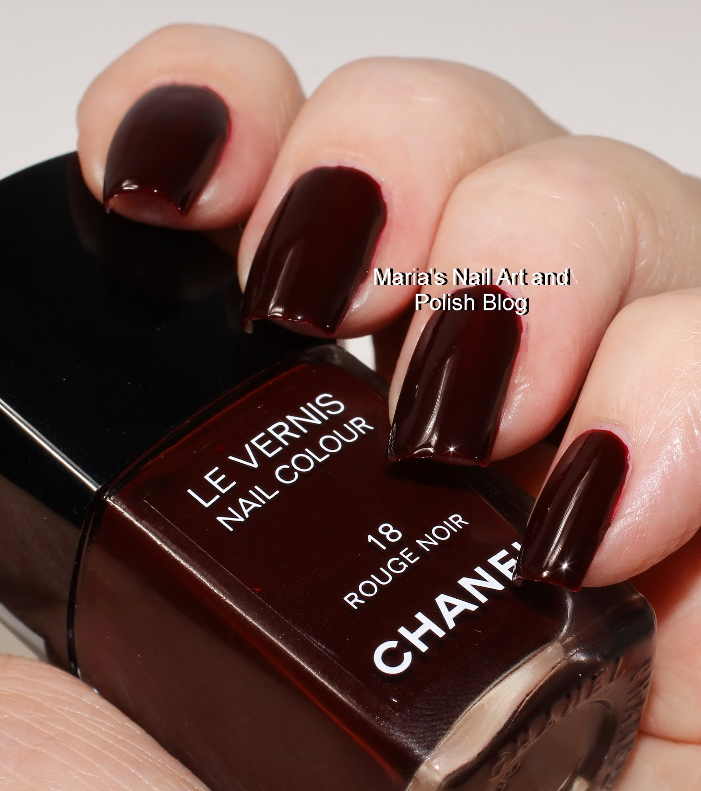 marias nail art and polish blog chanel rouge noir. Black Bedroom Furniture Sets. Home Design Ideas