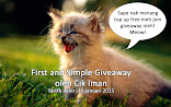 First and Simple Giveaway oleh Cik Iman