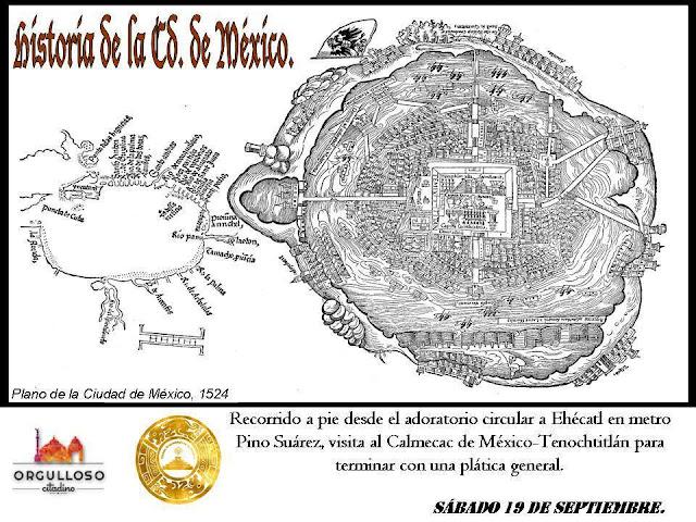 """Primer recorrido """"Historia de la Ciudad de México"""" por el Centro Histórico"""