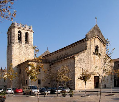 Romanesque church of the Sant Pere monastery in Besalú