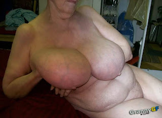 big tit granny showing off