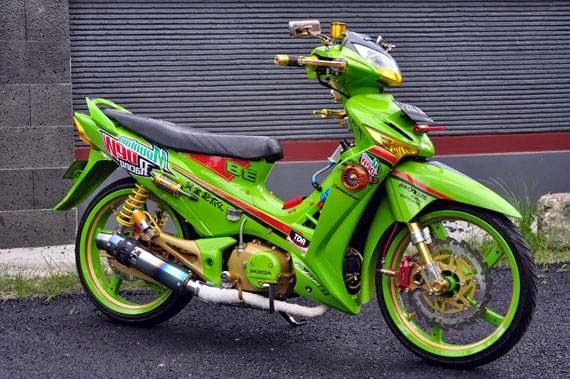 modifikasi warna motor supra x 125