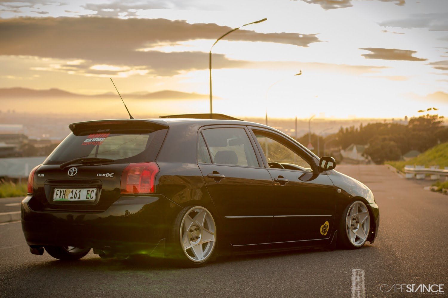 Cape Stance Nithaam Fakier S Bagged Toyota Runx