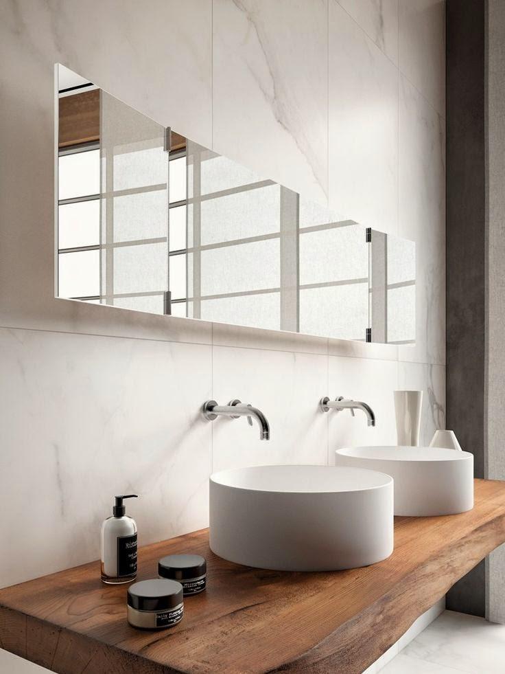 27 ba os minimalistas en fotos cuando menos es m s for Interior banos modernos