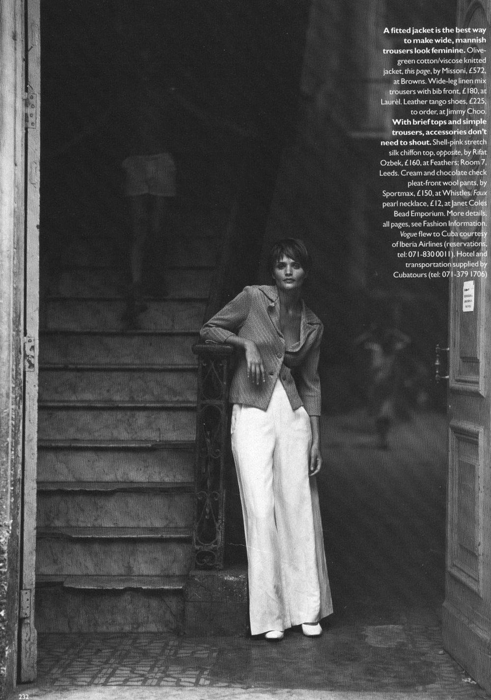 Helena Christensen in Our woman in Havana / Vogue UK March 1994 (photography: Mikael Jansson; styling: Kate Phelan) via fashioned by love british fashion blog