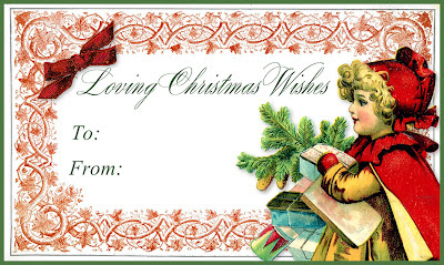 Loving Christmas Wishes Gift Tag