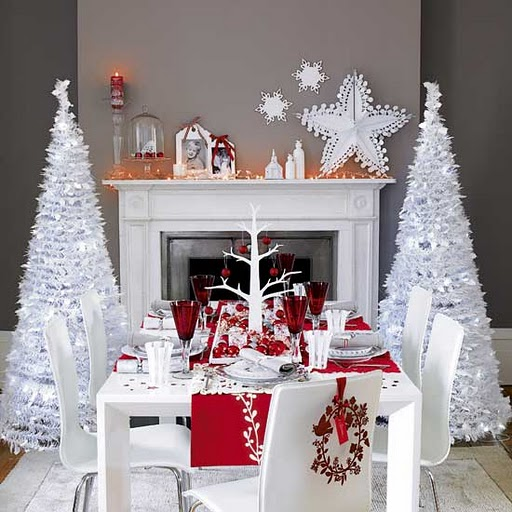 elegant white christmas decorations photo1 - Elegant White Christmas Decorations