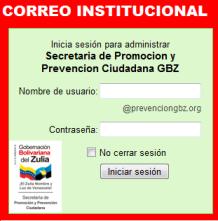 CLIC PARA INICIAR SESION EN CORREO INSTITUCIONAL