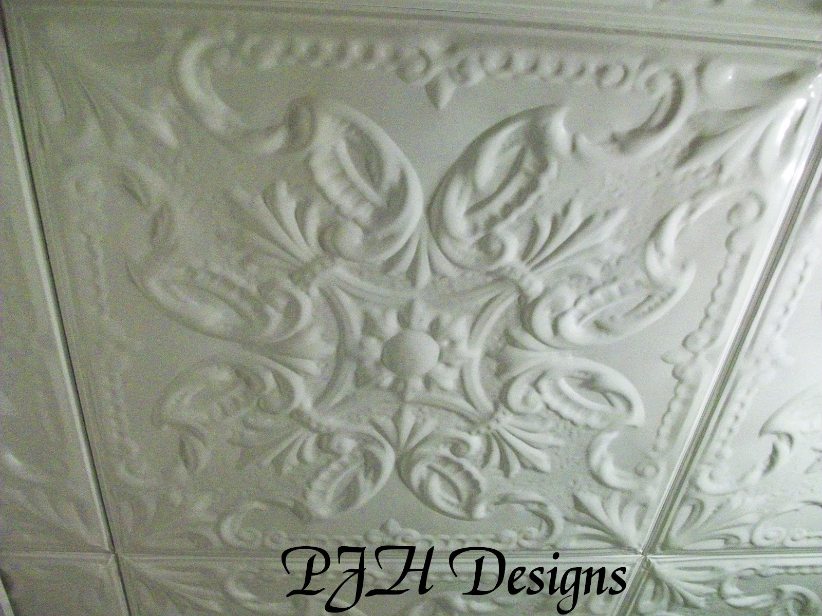 home faux ceiling lace tin depot tiles white design kitchen interior canada beautiful cottage island ceilings