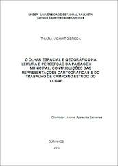 O OLHAR ESPACIAL E GEOGRÁFICO NA LEITURA E PERCEPÇÃO DA PAISAGEM MUNICIPAL