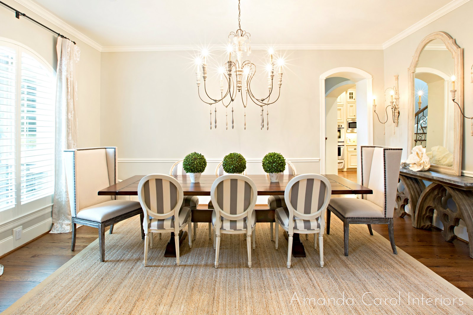 Upholstered Dining Room Chairs With Arms - Amanda carol interiors grey upholstered dining room chairs