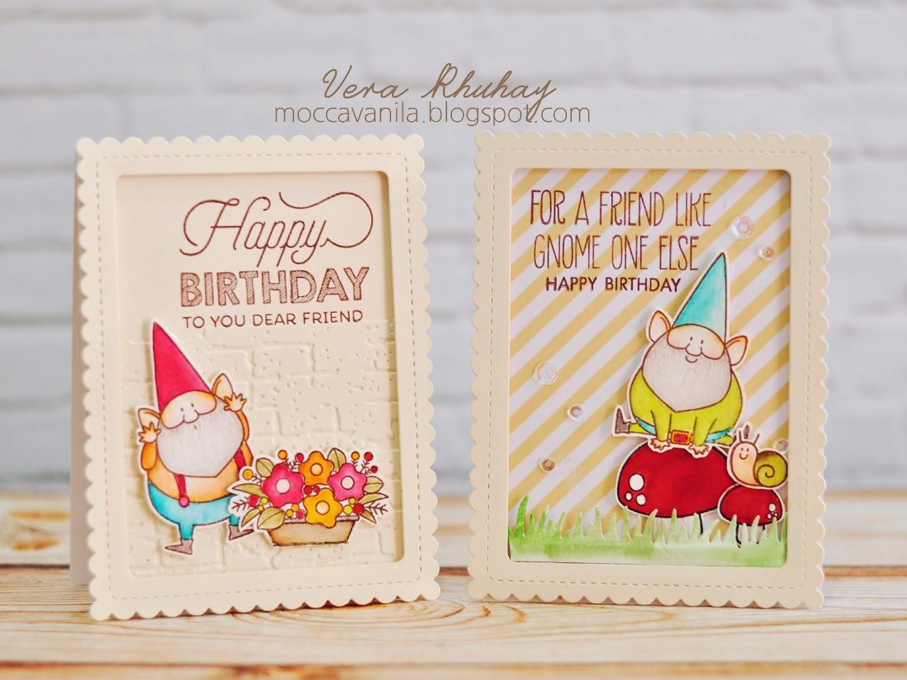 Moccavanila by vera rhuhay gnome birthday card gnome birthday card bookmarktalkfo Image collections