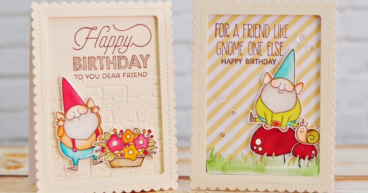 Moccavanila By Vera Rhuhay Gnome Birthday Card