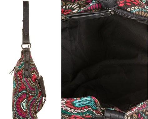 Detalles del lateral e interior de este modelo de bolso