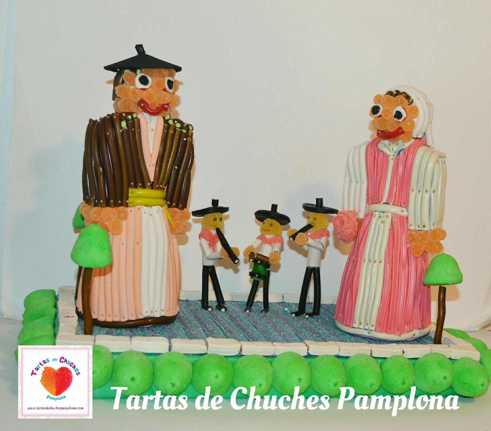 Tartas de Chuches de los Gaiteros Ezpelur y los Gigantes de Barañain