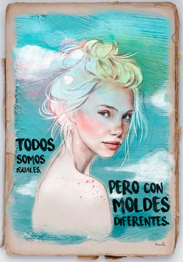 Ilustración, Todos somos iguales de Bea Sevilla