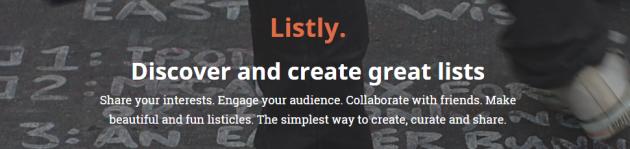 Listly crea listas colaborativas e interactivas.