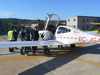 Avió Diamond de l'escola de pilots Aerolink.