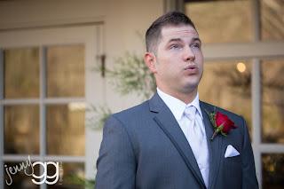 Casey awaits Courtney - Patricia Stimac, Seattle Wedding Officiant