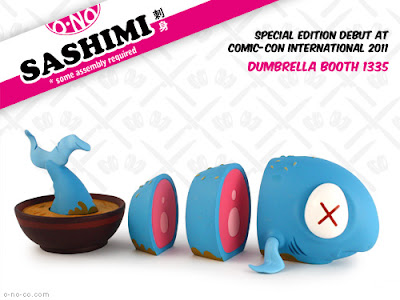 San Diego Comic-Con 2011 Exclusive Blue O-No Sashimi Vinyl Figure by Andrew Bell