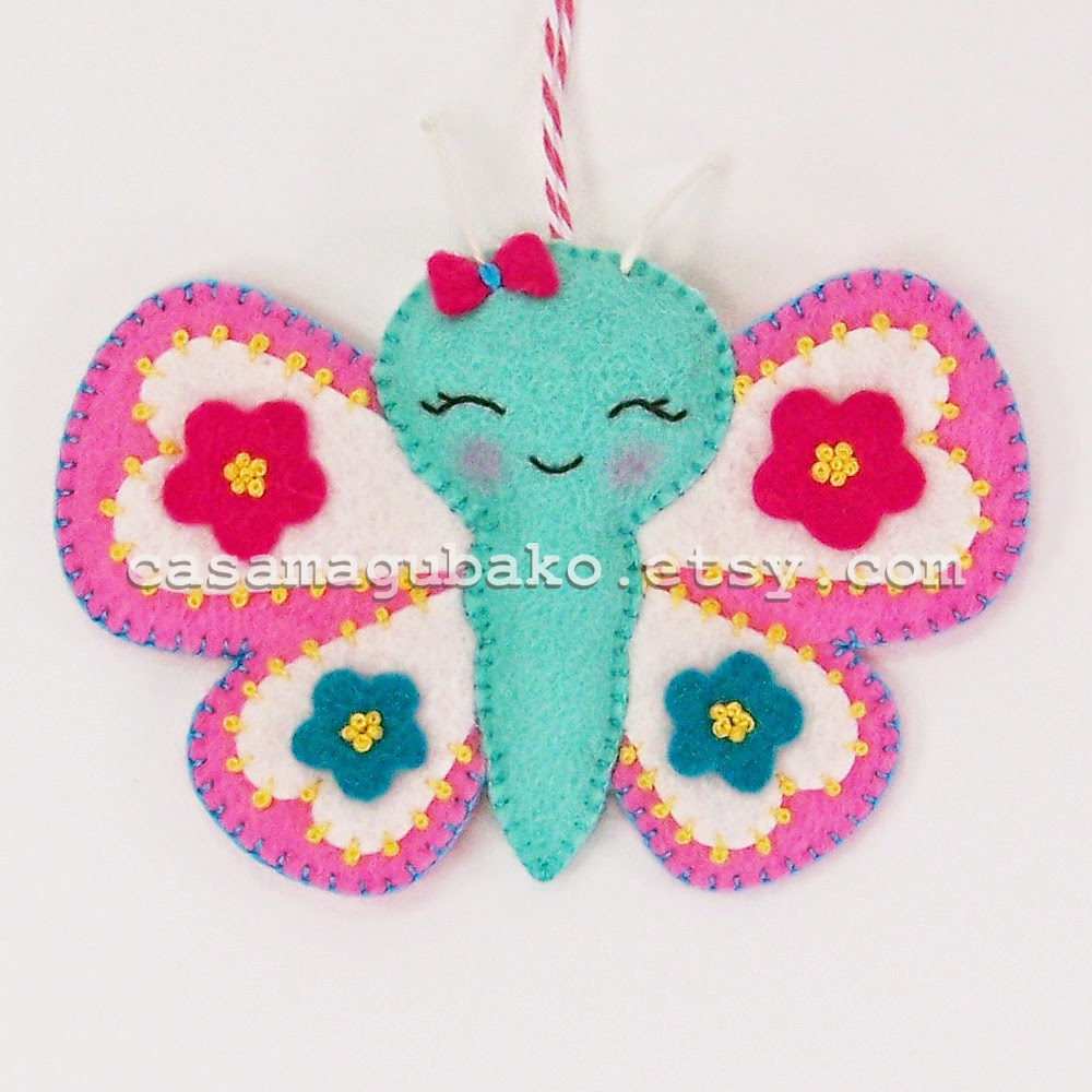 Felt Butterfly by casamagubako.com